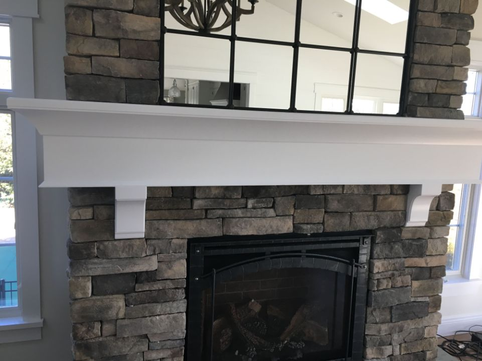 new interior trim for fireplace