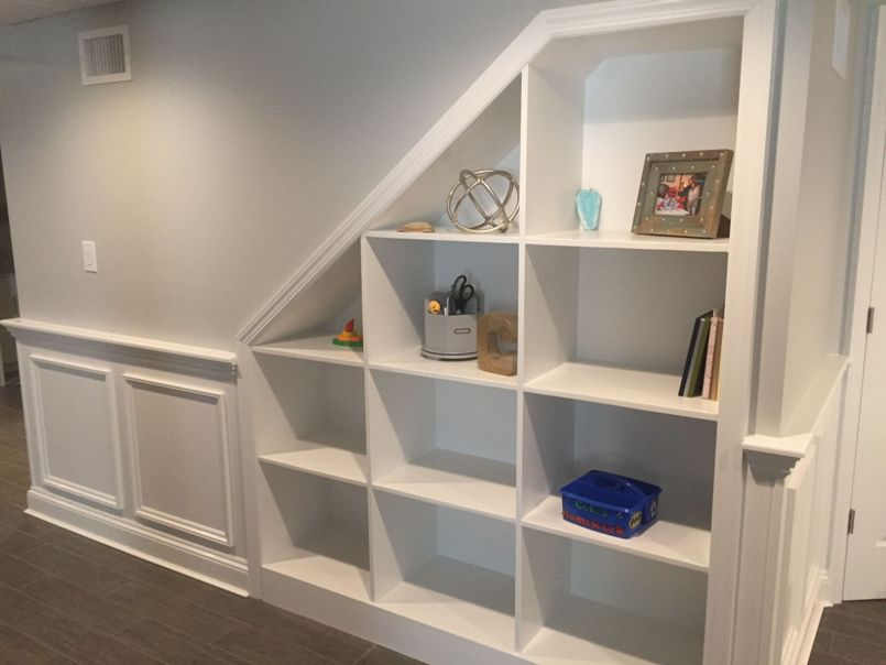 add built ins to your basement remodel